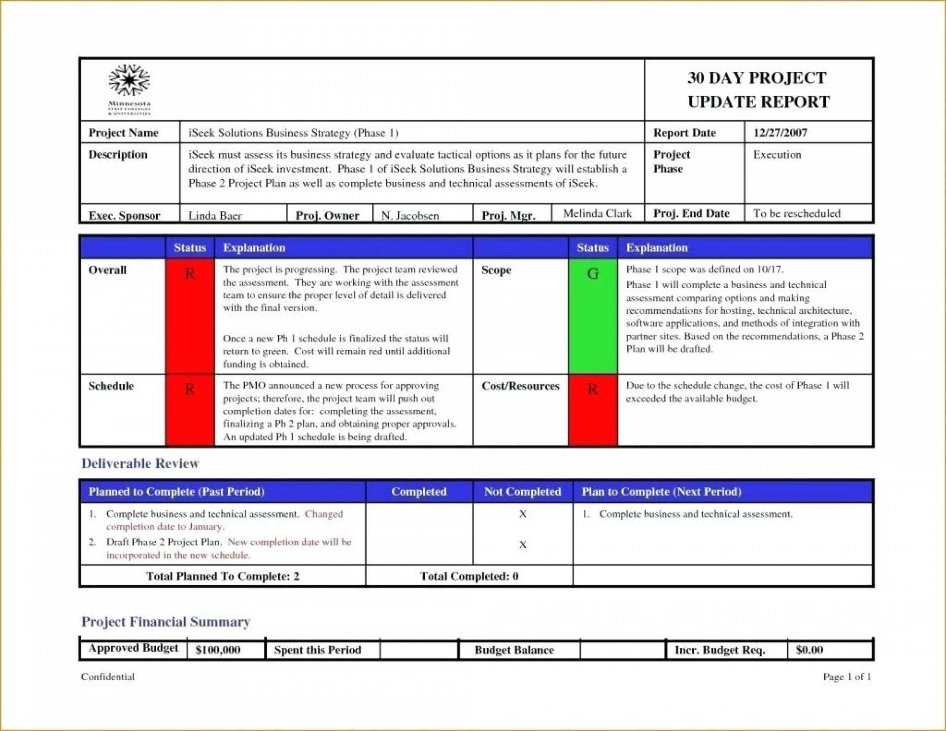 003 Status Report Template Excel Ideas Project Management regarding Agile Status Report Template