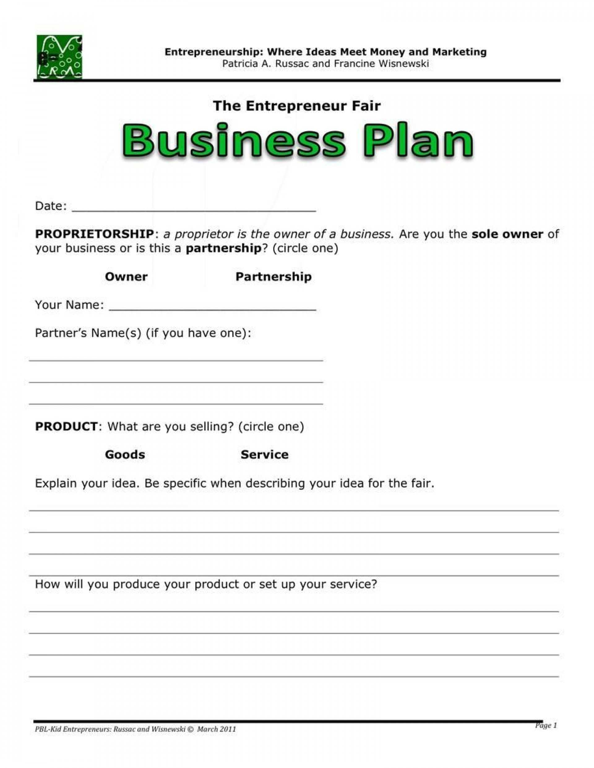 006 20Business Plans Plan20Ine Sample Pdf Template Examples With Business Plan Template Free Word Document