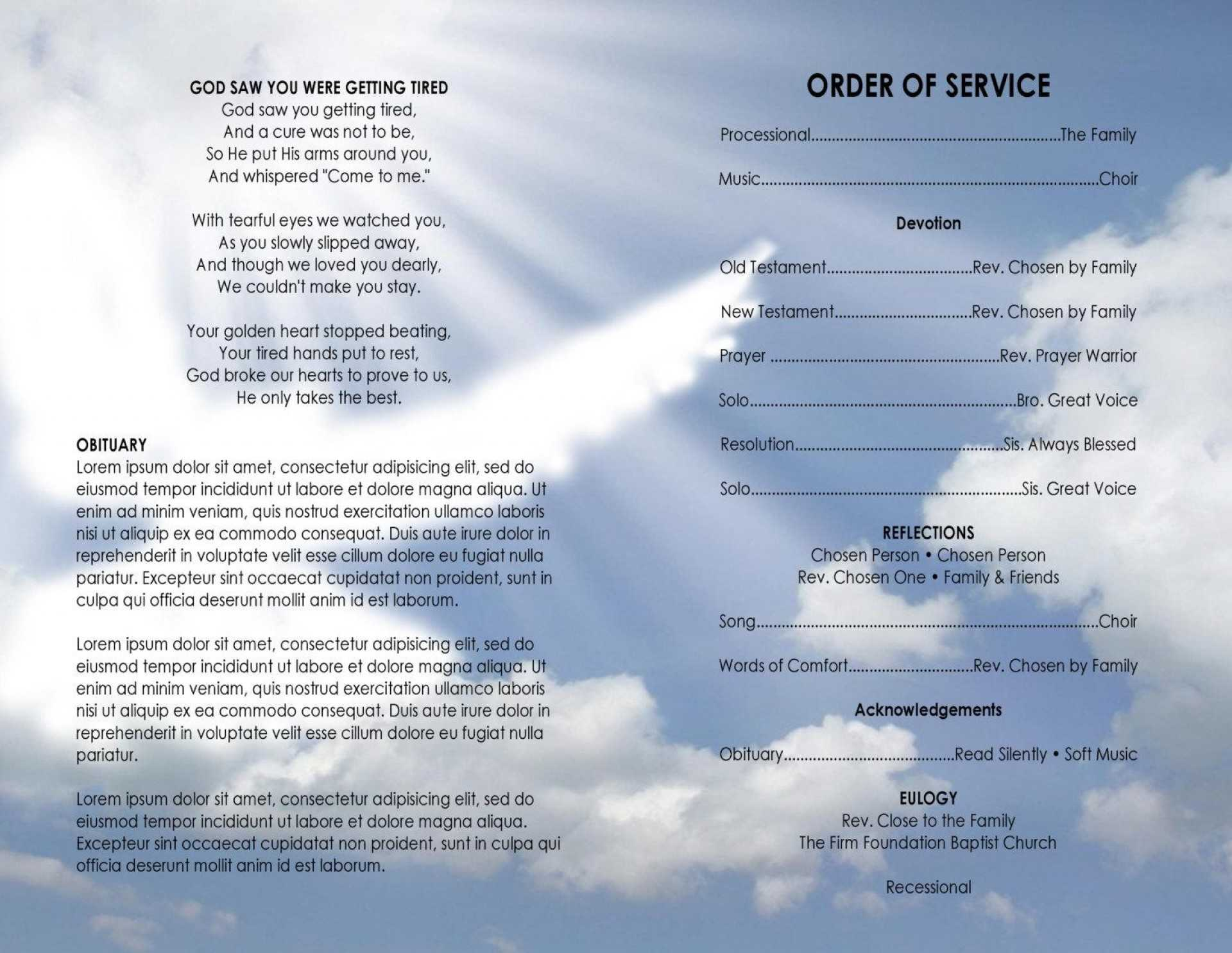 009 Template Ideas Free Church Program Word Bulletin Regarding Church Program Templates Word