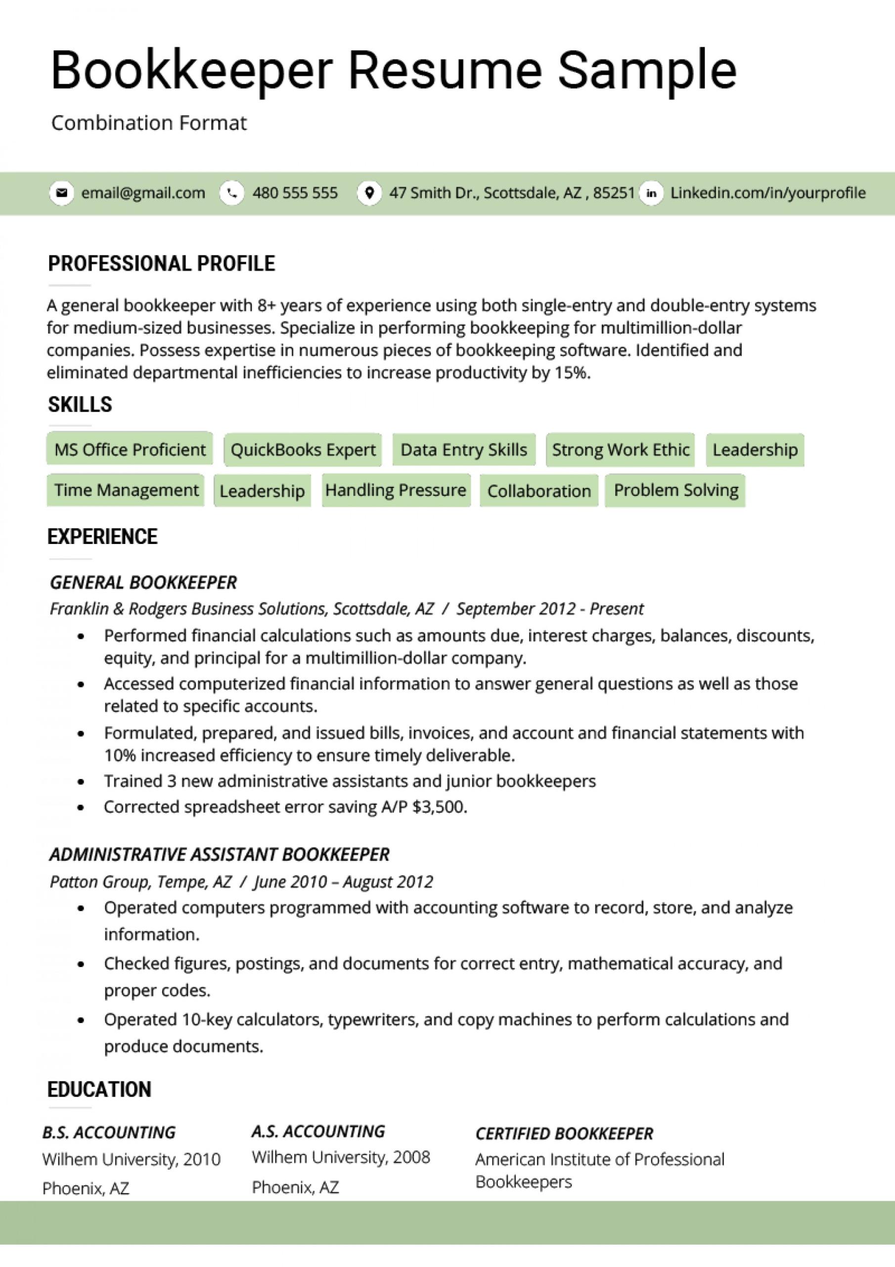 021 Combination Resume Template Word Bination Format Inside Combination Resume Template Word