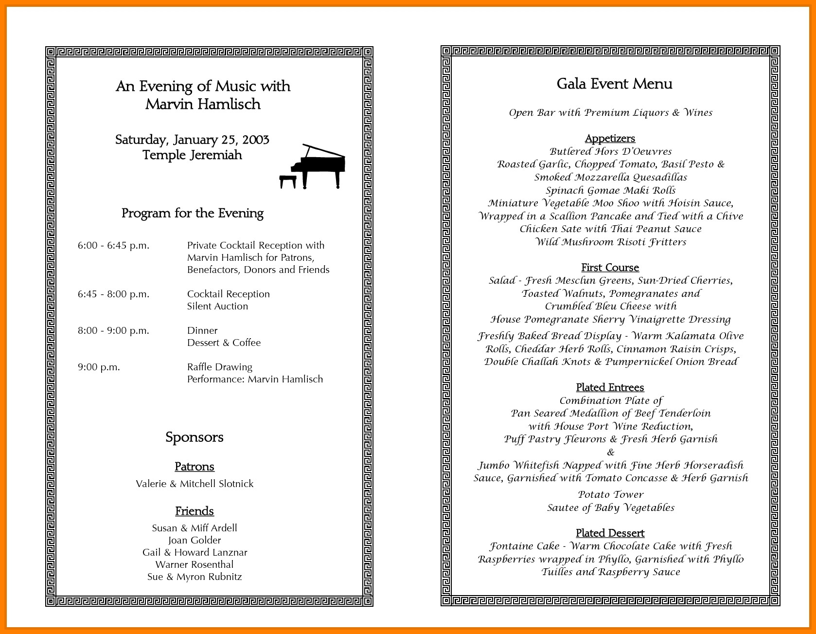024 Printable Event Program Template Free Download Floss With Regard To Free Event Program Templates Word