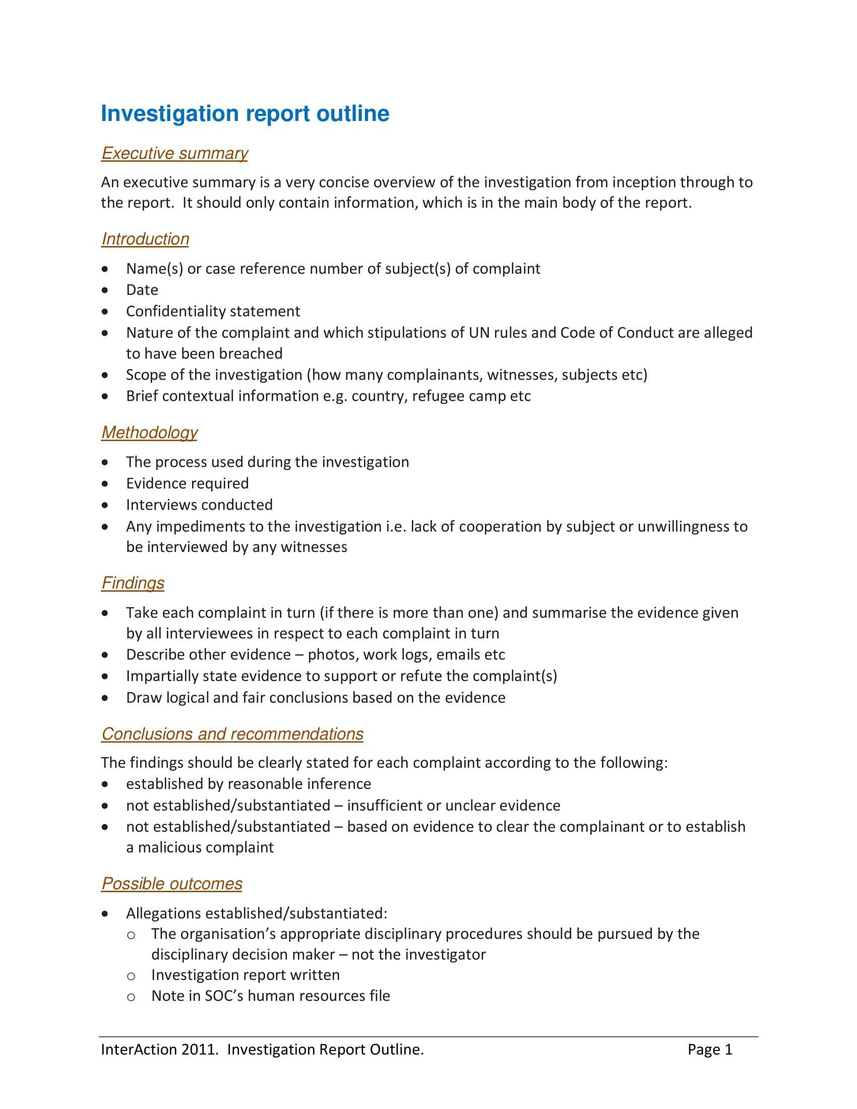 10+ Workplace Investigation Report Examples - Pdf   Examples Intended For Workplace Investigation Report Template