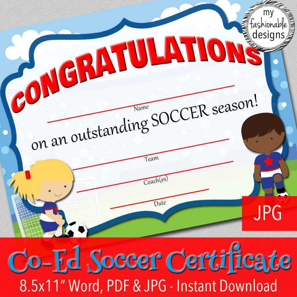 13+ Soccer Award Certificate Examples - Pdf, Psd, Ai intended for Soccer Certificate Templates For Word