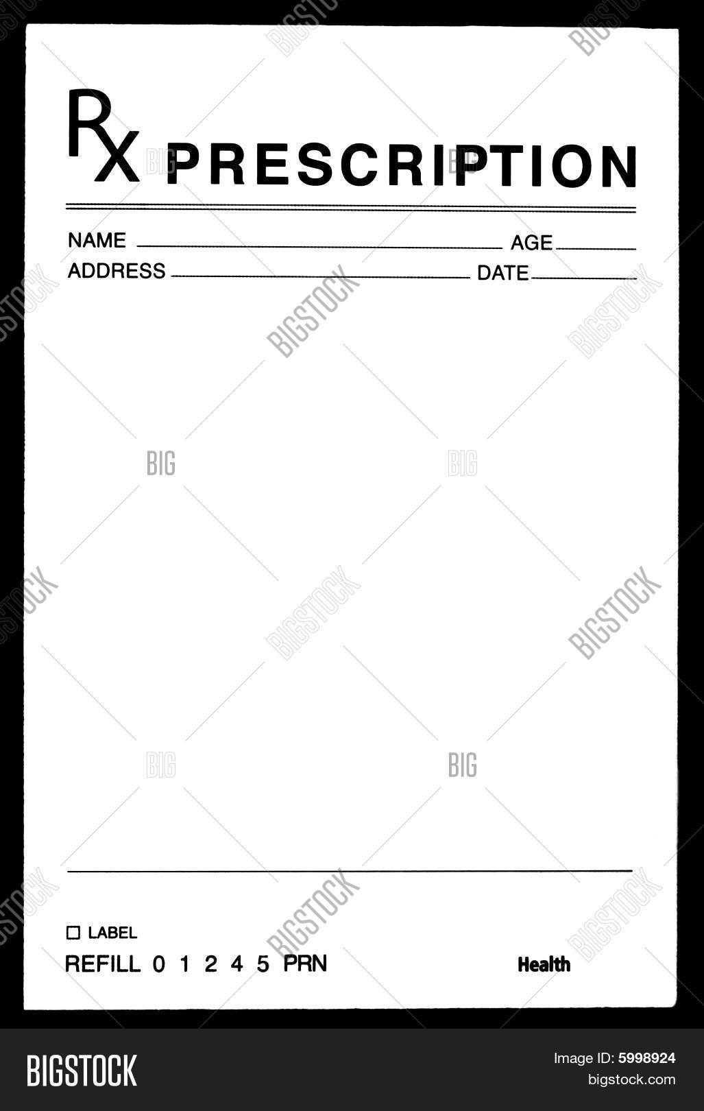 26 Images Of Blank Prescription Form Doctor Template Pertaining To Blank Prescription Form Template