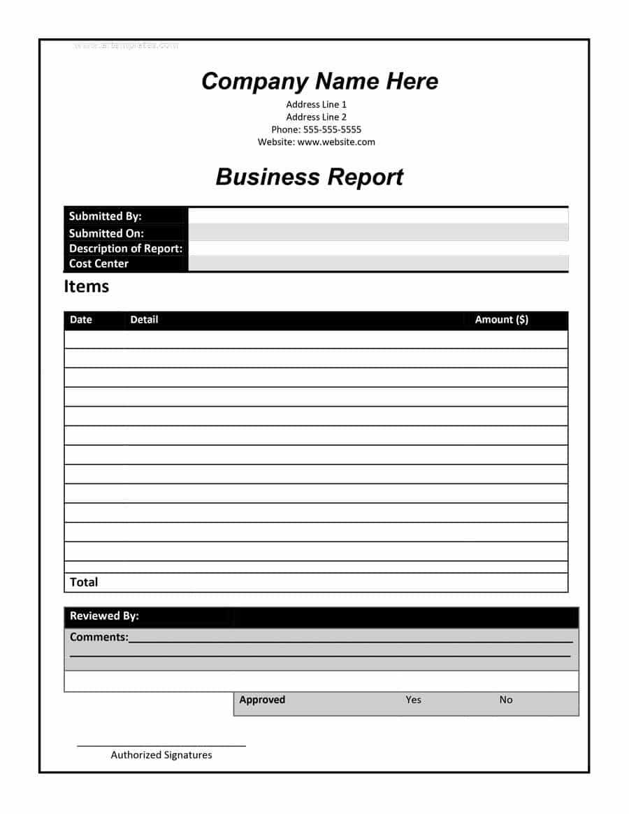 30+ Business Report Templates & Format Examples ᐅ Template Lab Intended For What Is A Report Template