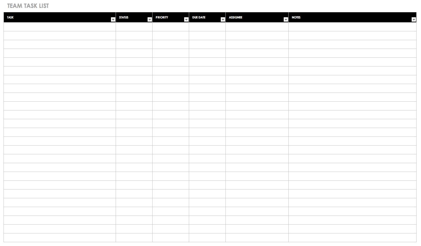 30+ Free Task And Checklist Templates   Smartsheet In Blank Checklist Template Word