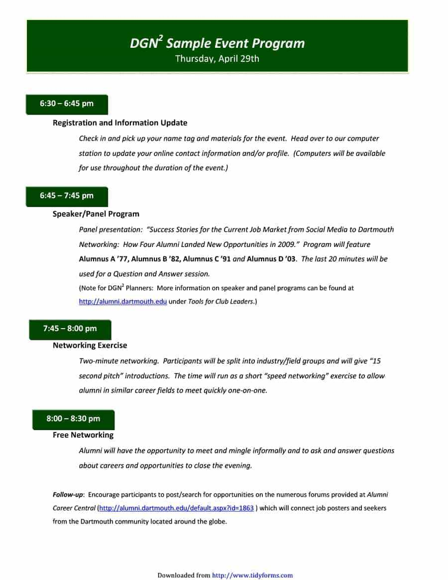40+ Free Event Program Templates / Designs - Template Archive with regard to Event Agenda Template Word