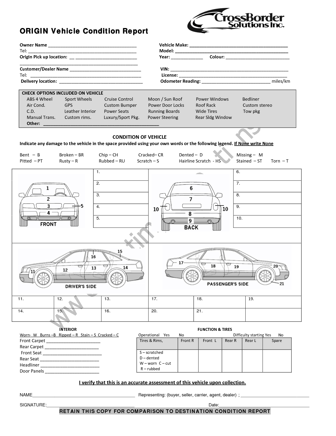 5+ Vehicle Condition Reports - Word Excel Templates Throughout Truck Condition Report Template