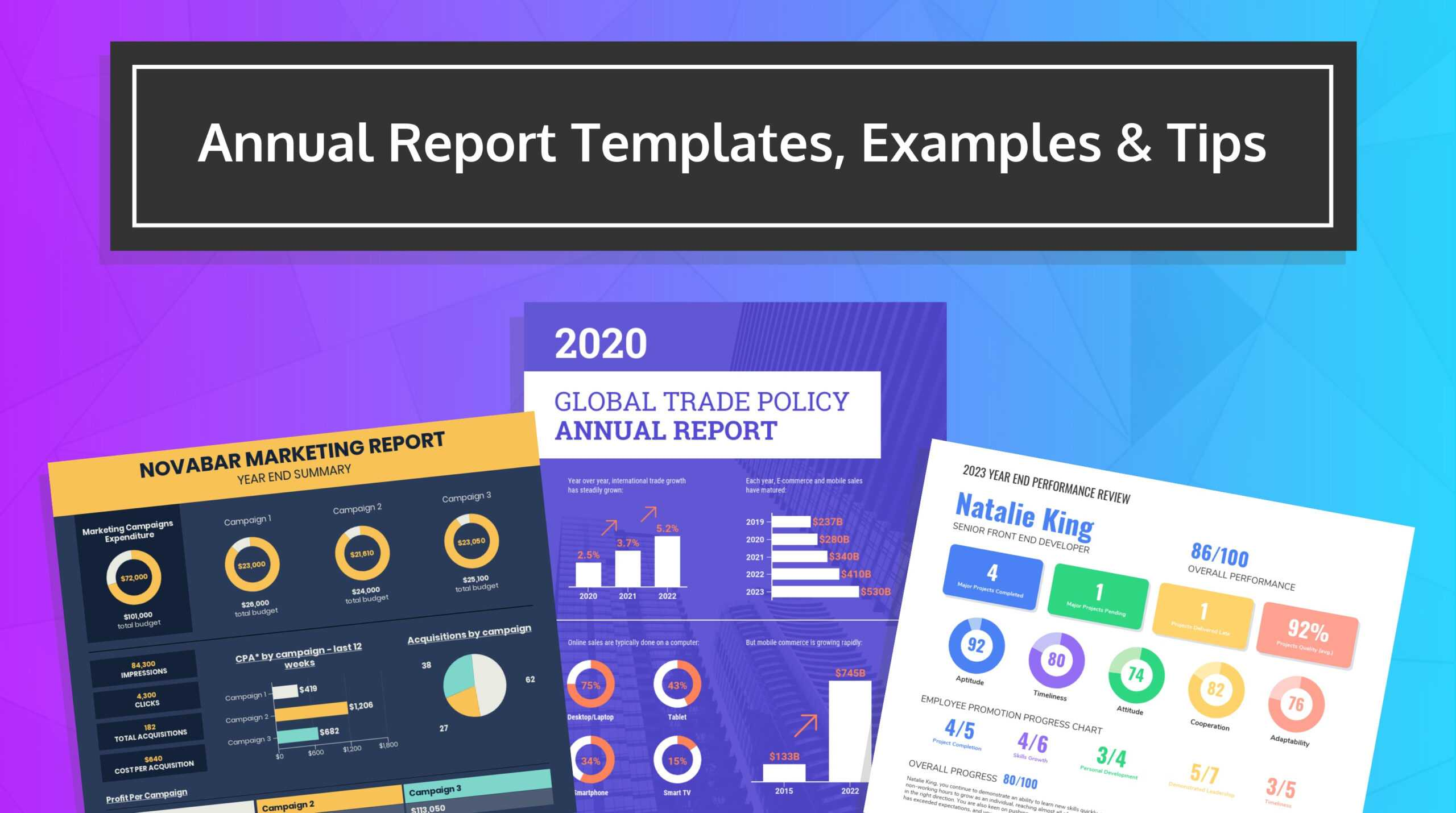 55+ Customizable Annual Report Design Templates, Examples & Tips Pertaining To Nonprofit Annual Report Template