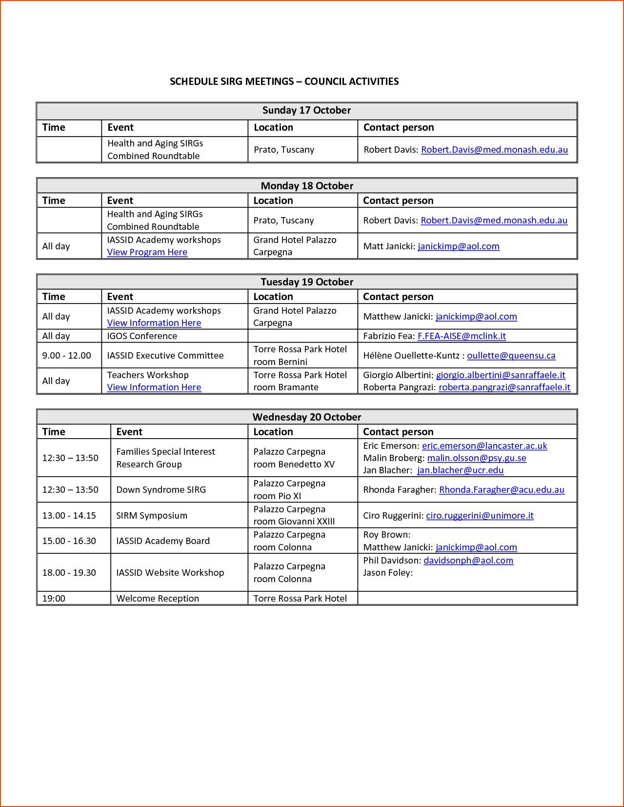 6+ Event Schedule Template – Bookletemplate Inside Event Agenda Template Word