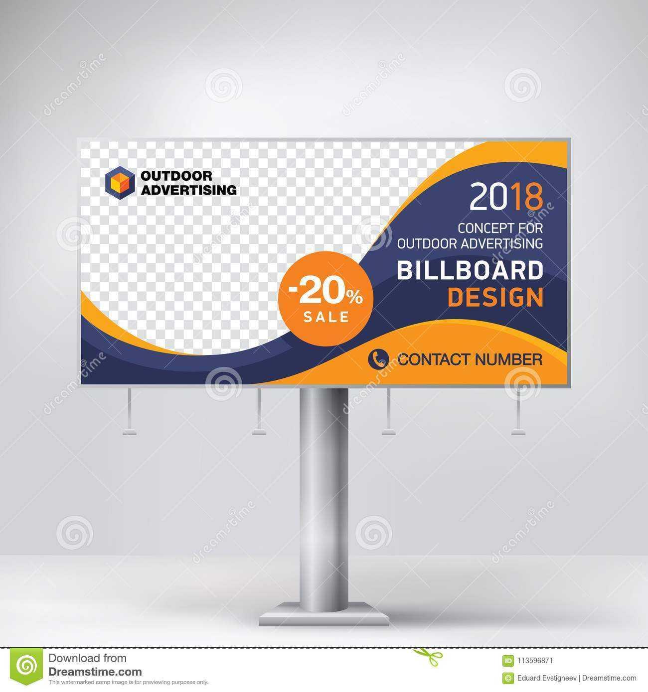 Billboard Design, Template Banner For Outdoor Advertising Throughout Outdoor Banner Design Templates