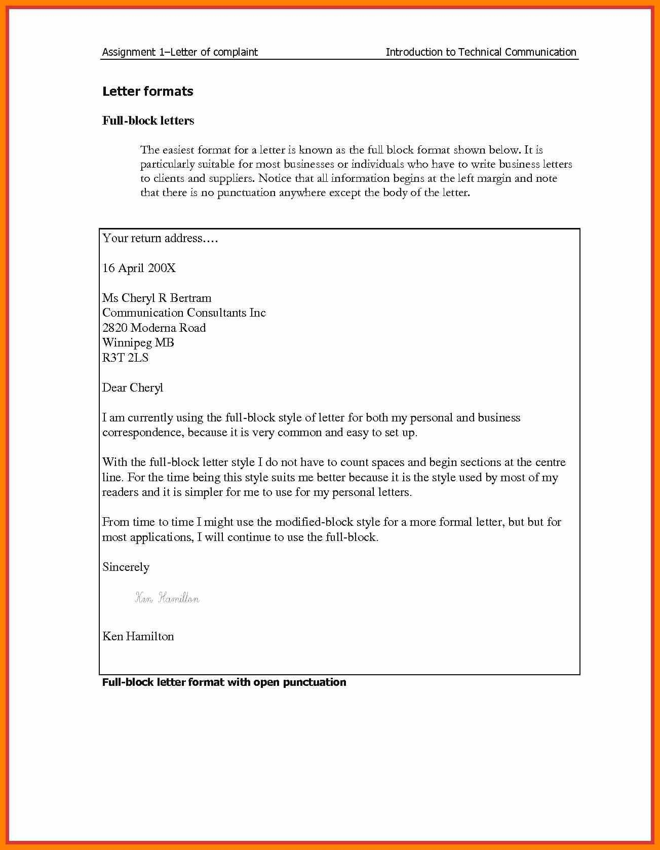 Blocked Letter Style – Zohre.horizonconsulting.co Pertaining To Modified Block Letter Template Word