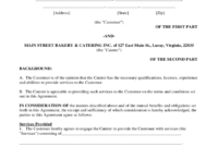 Catering Contract Template - 6 Free Templates In Pdf, Word in Catering Contract Template Word
