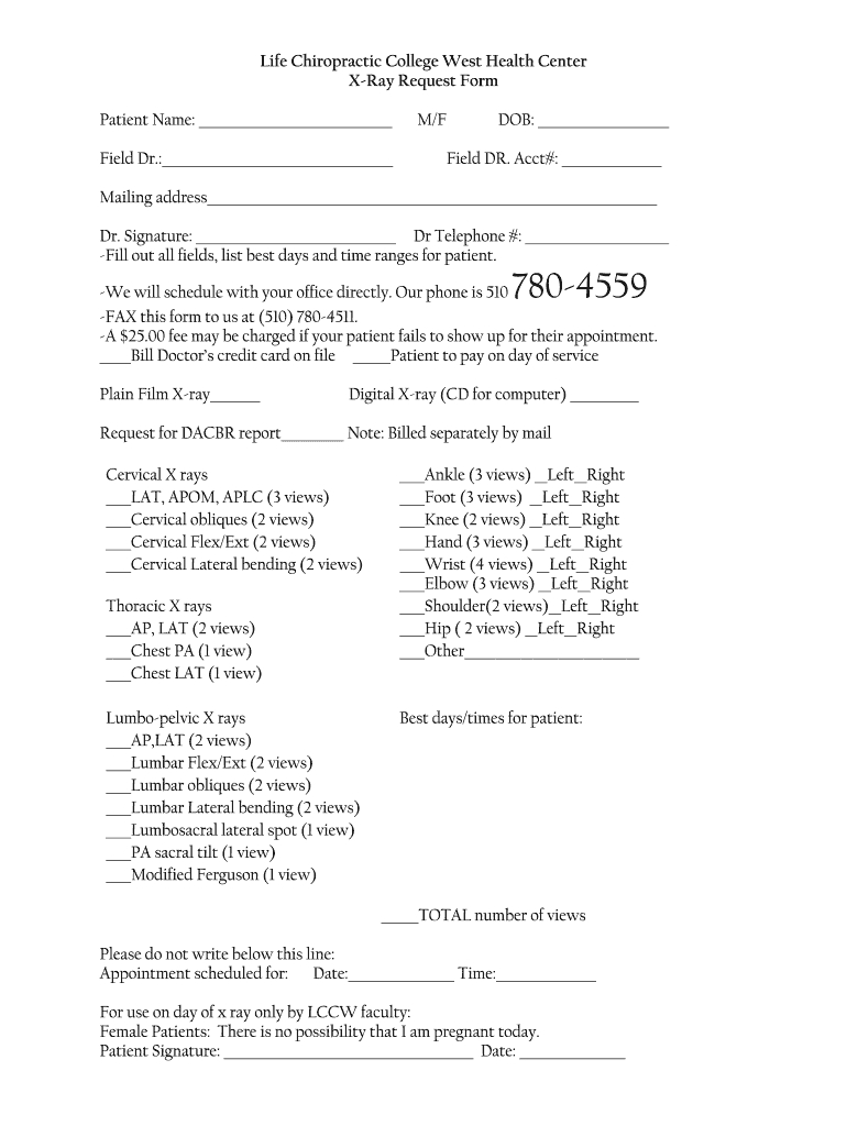 Chiropractic X Ray Report Template - Fill Online, Printable Throughout Chiropractic X Ray Report Template
