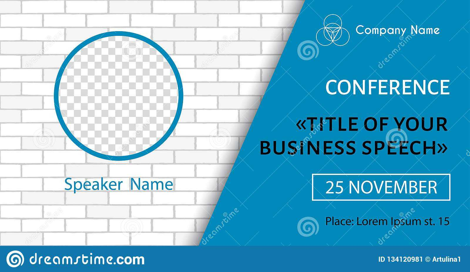 Corporate Announcement Poster Template. Vector Flyer For Intended For Event Banner Template