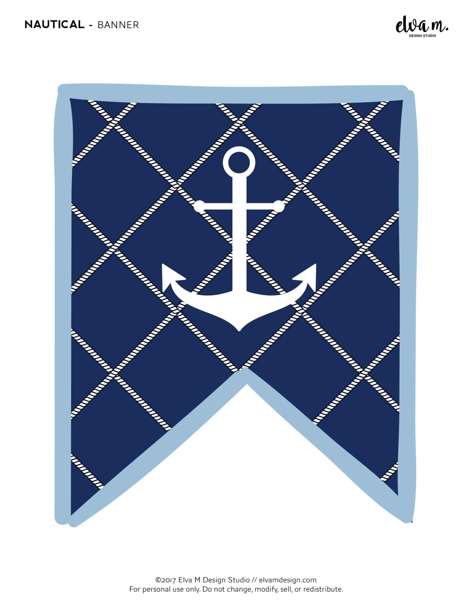 Download These Free Nautical Birthday And Baby Shower With Regard To Nautical Banner Template