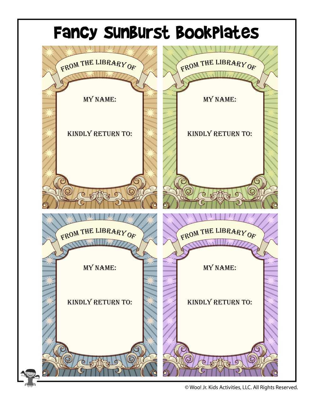 Free Bookplates To Print | Woo! Jr. Kids Activities Throughout Bookplate Templates For Word