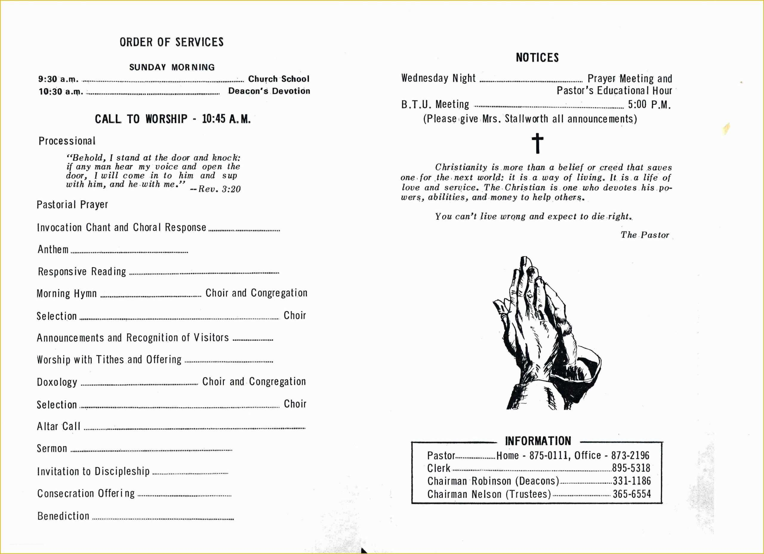 Free Church Programs Template - Zohre.horizonconsulting.co in Church Program Templates Word