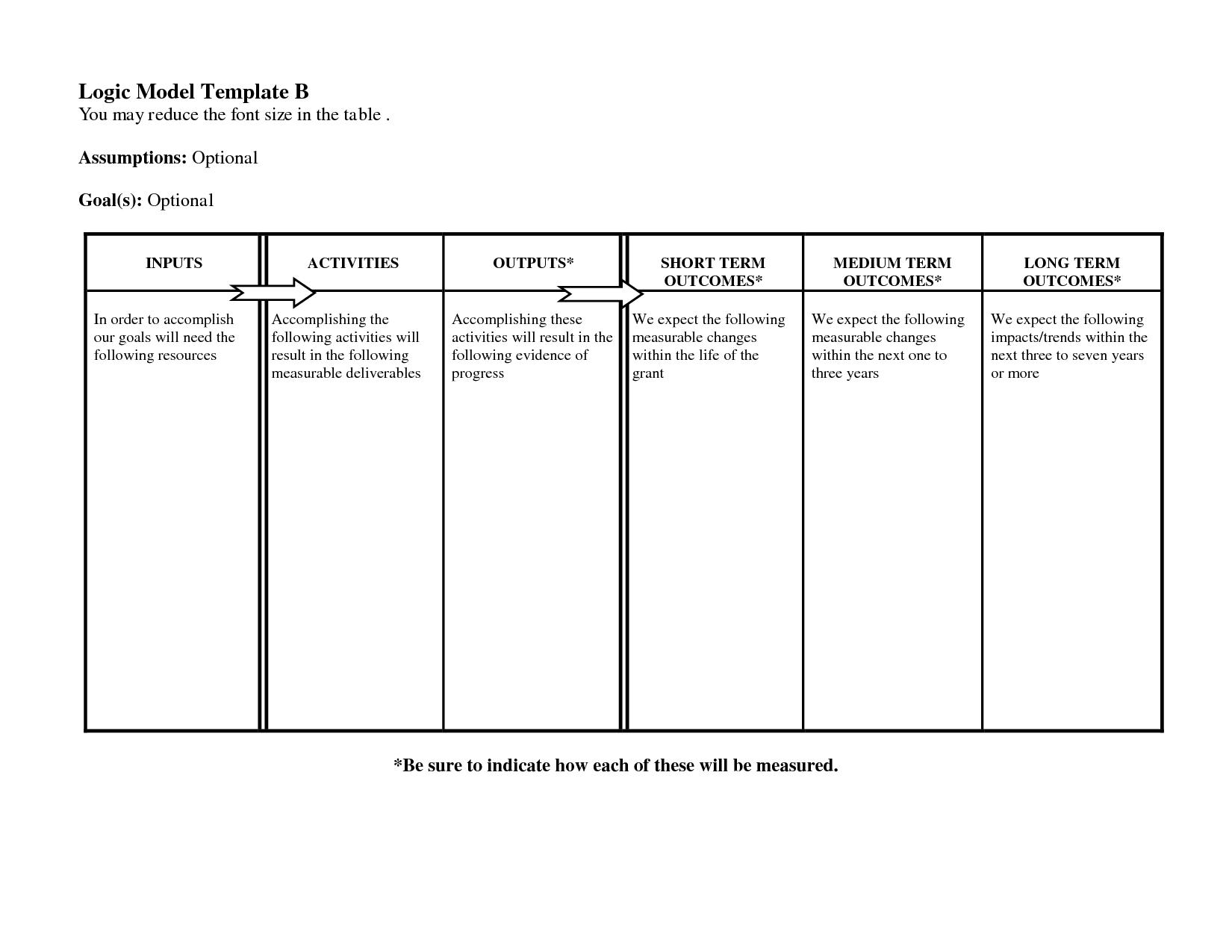 Free Logic Templates Download ] - Of Social Media Marketing In Logic Model Template Microsoft Word