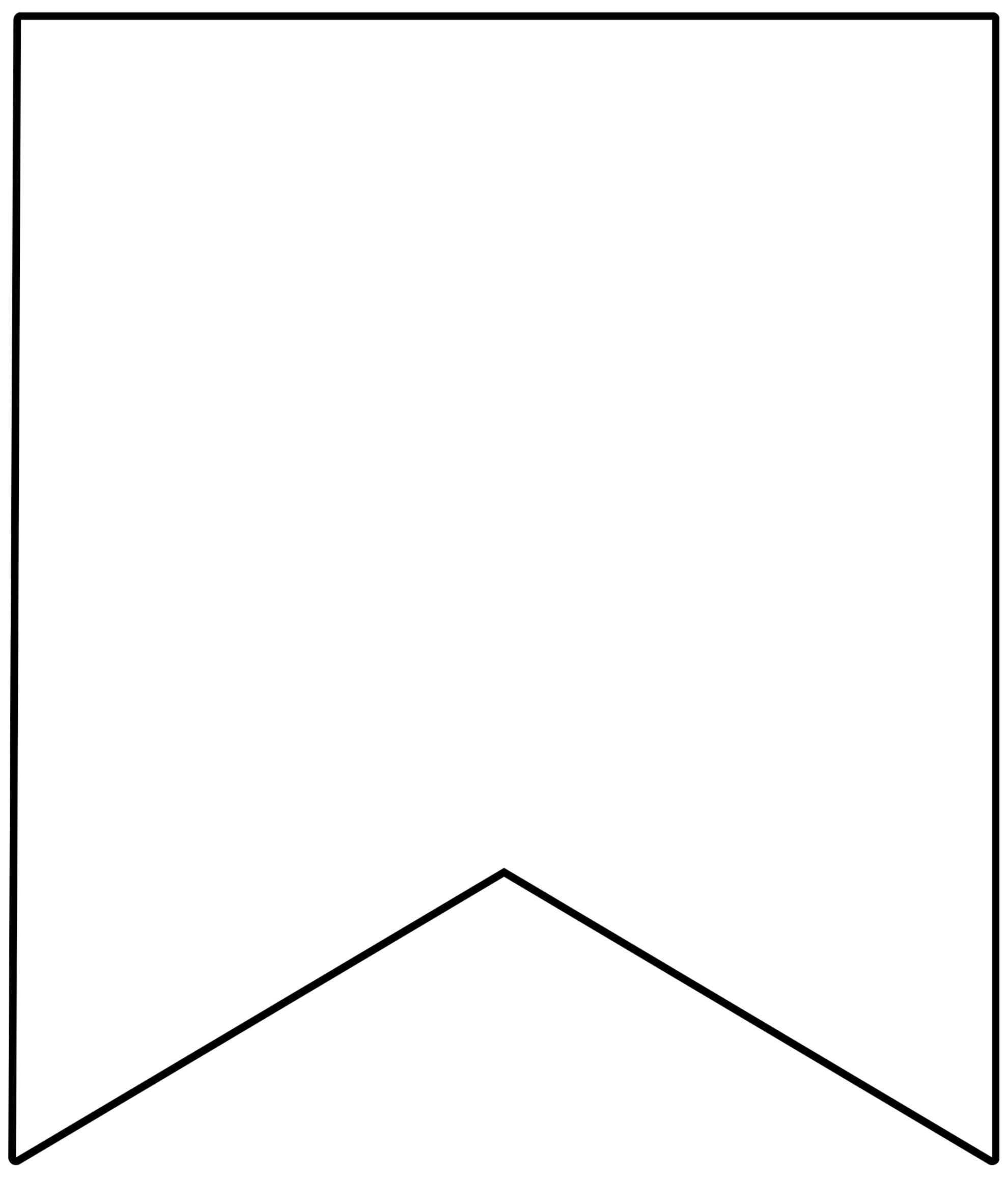 Free Printable Banner Templates {Blank Banners} - Paper Regarding Free Triangle Banner Template