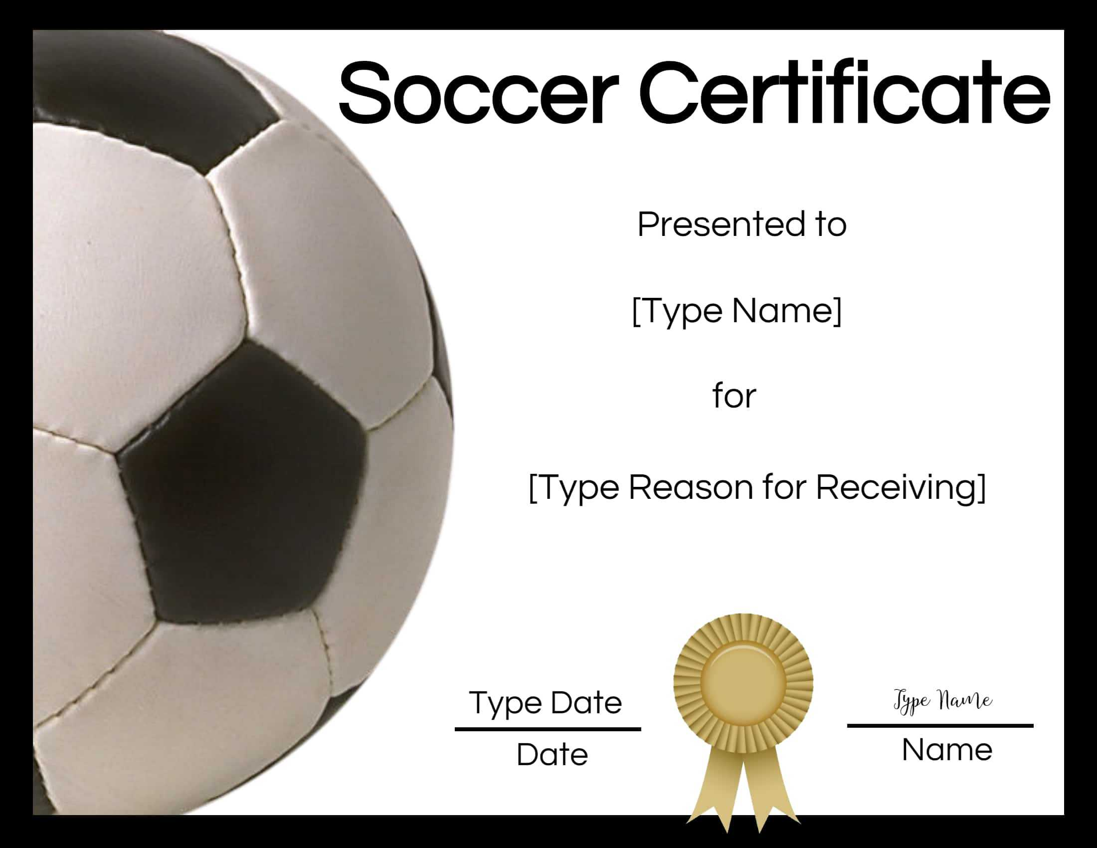 Free Soccer Certificate Maker   Edit Online And Print At Home in Soccer Certificate Templates For Word