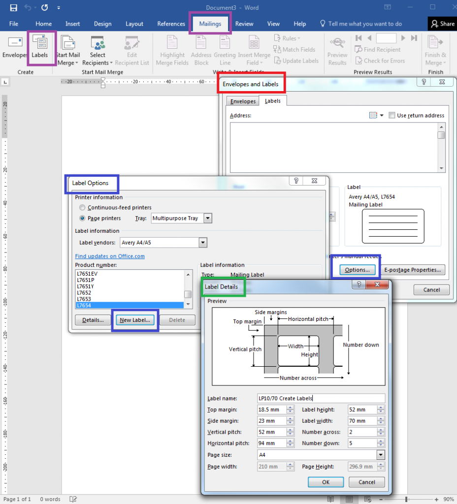 How To – How To Create Your Own Label Templates In Word In What Is A Template In Word