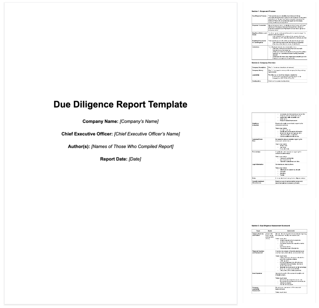 How To Write Due Diligence Report For M&a [+ Sample] With Vendor Due Diligence Report Template