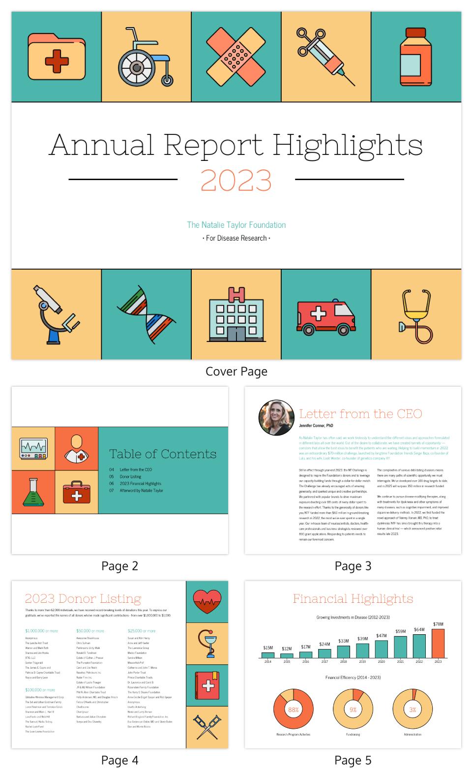 Illustrative Medical Nonprofit Annual Report Template Intended For Nonprofit Annual Report Template
