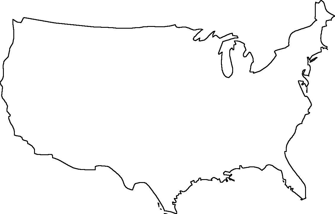 Library Of Jpg Library Library Of United States Map Outline Regarding United States Map Template Blank