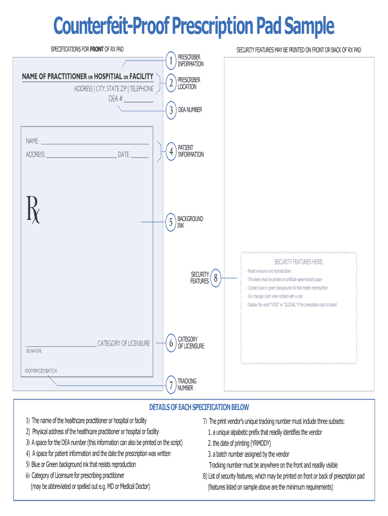 Prescription Pad Template - Fill Online, Printable, Fillable In Blank Prescription Form Template