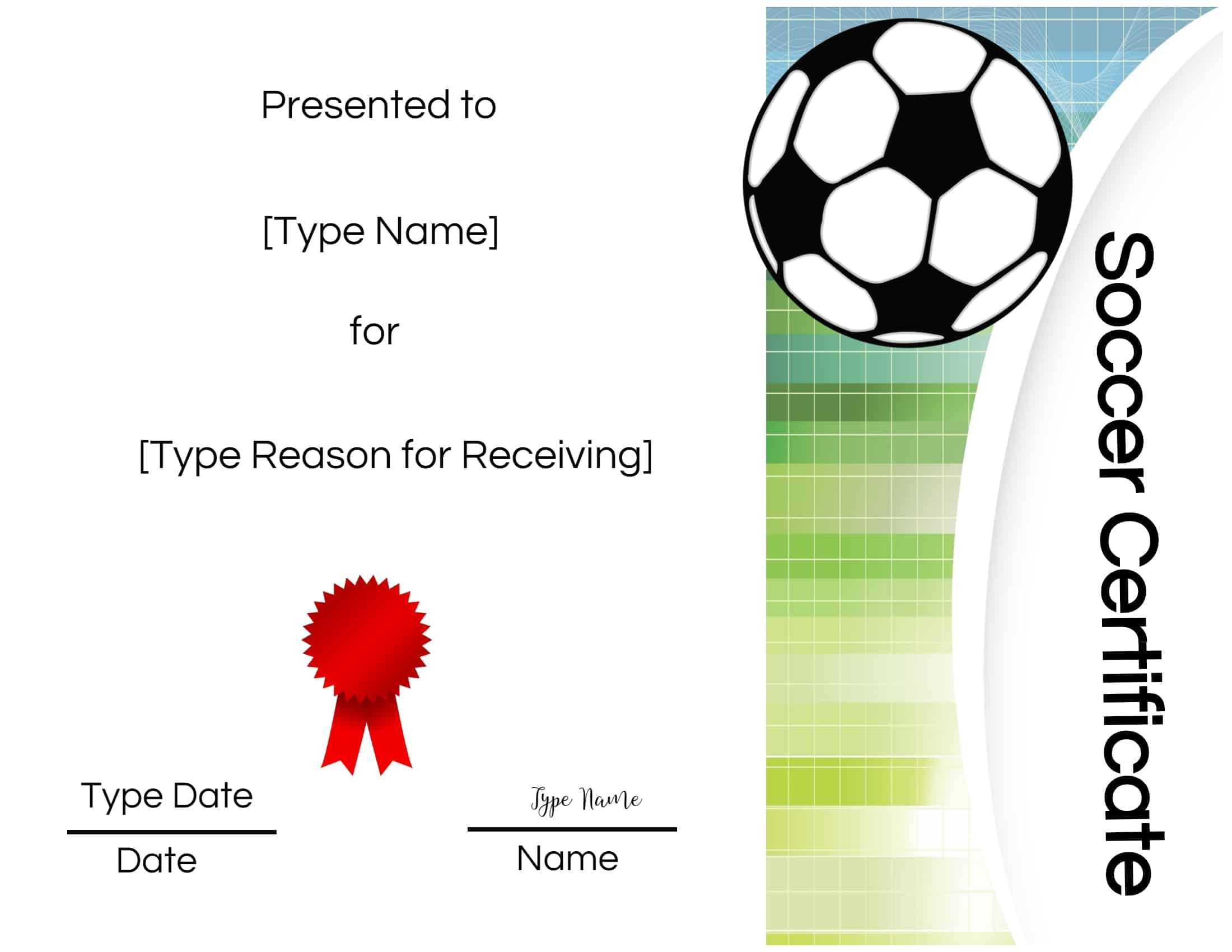 Printable Soccer Certificates - Mahre.horizonconsulting.co With Soccer Certificate Templates For Word