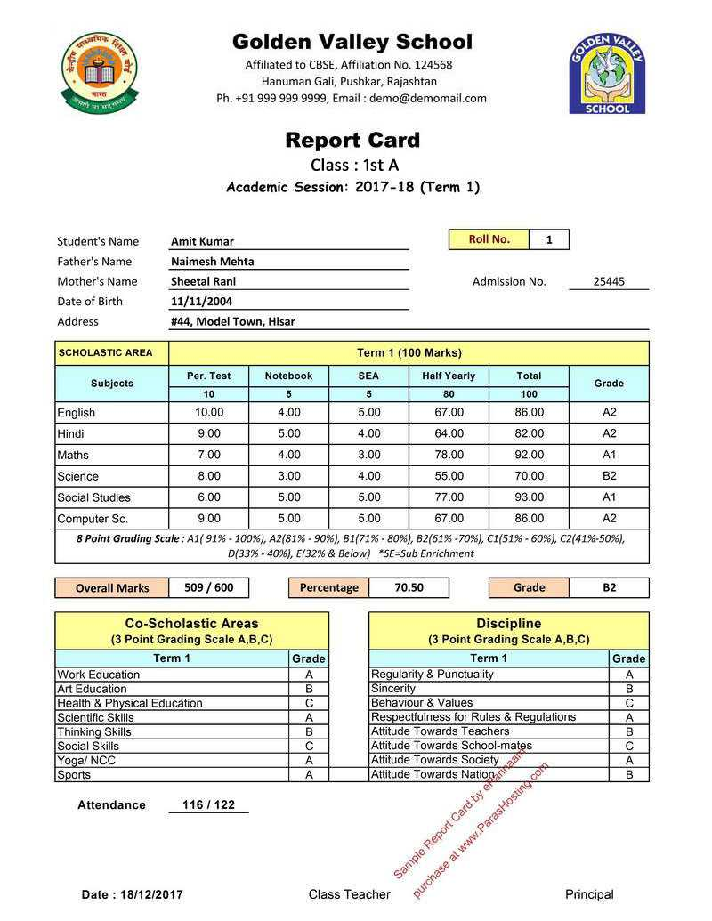 Report Card Format - Zohre.horizonconsulting.co inside Soccer Report Card Template