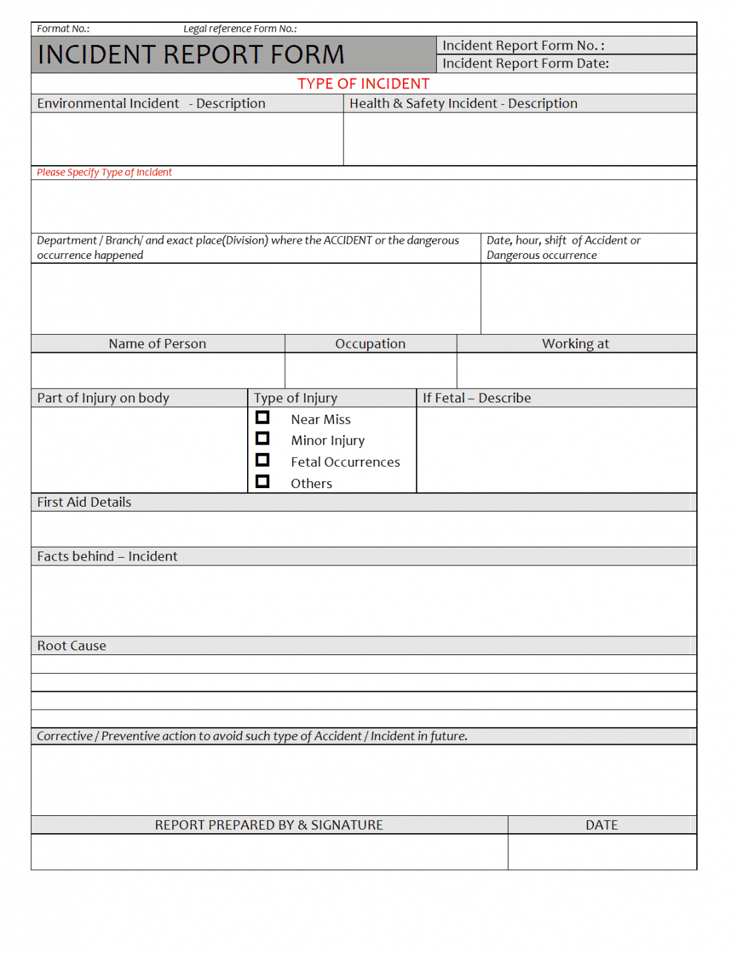 Sample Monthly Health And Safety Report Format Annual Intended For Annual Health And Safety Report Template