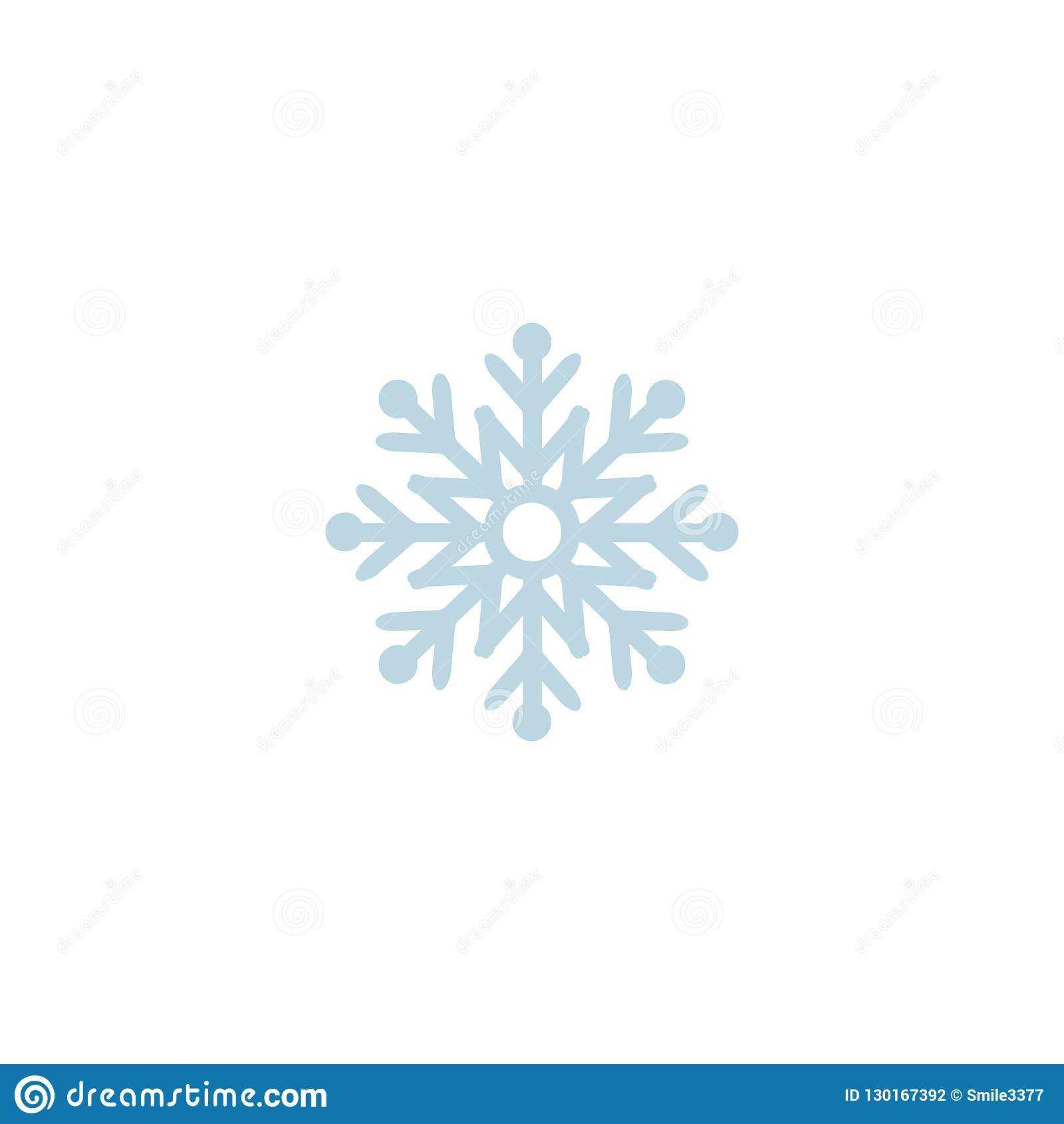 Snowflake Icon. Template Christmas Snowflake On Blank Throughout Blank Snowflake Template
