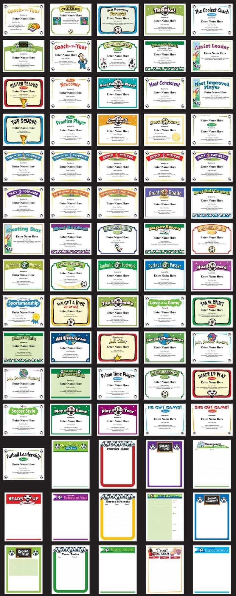 Soccer Certificates   Award Templates   Customize regarding Soccer Certificate Templates For Word