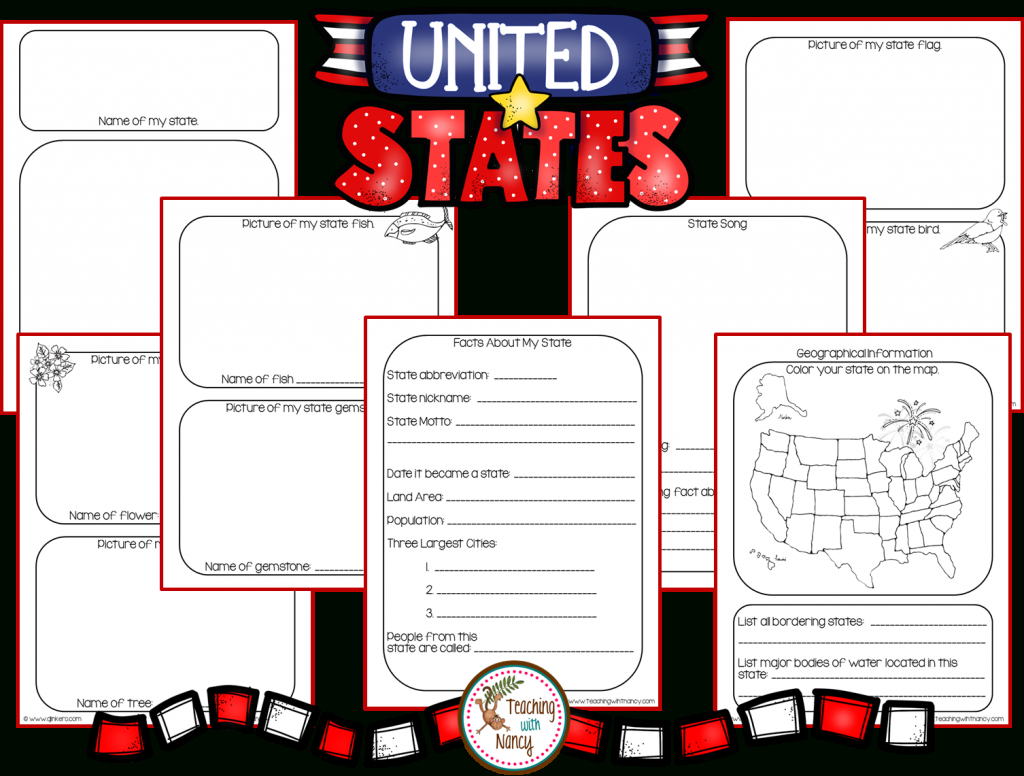 State Report Research Project Made Easy! | Teaching With Nancy regarding State Report Template