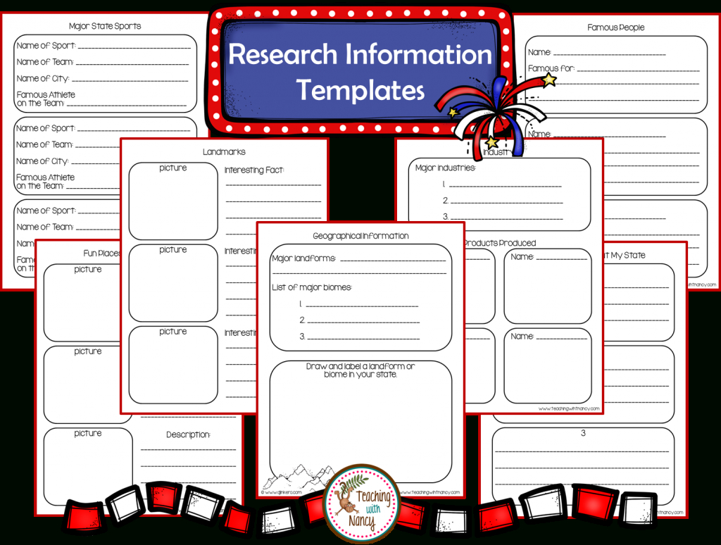 State Report Research Project Made Easy! | Teaching With Nancy With State Report Template