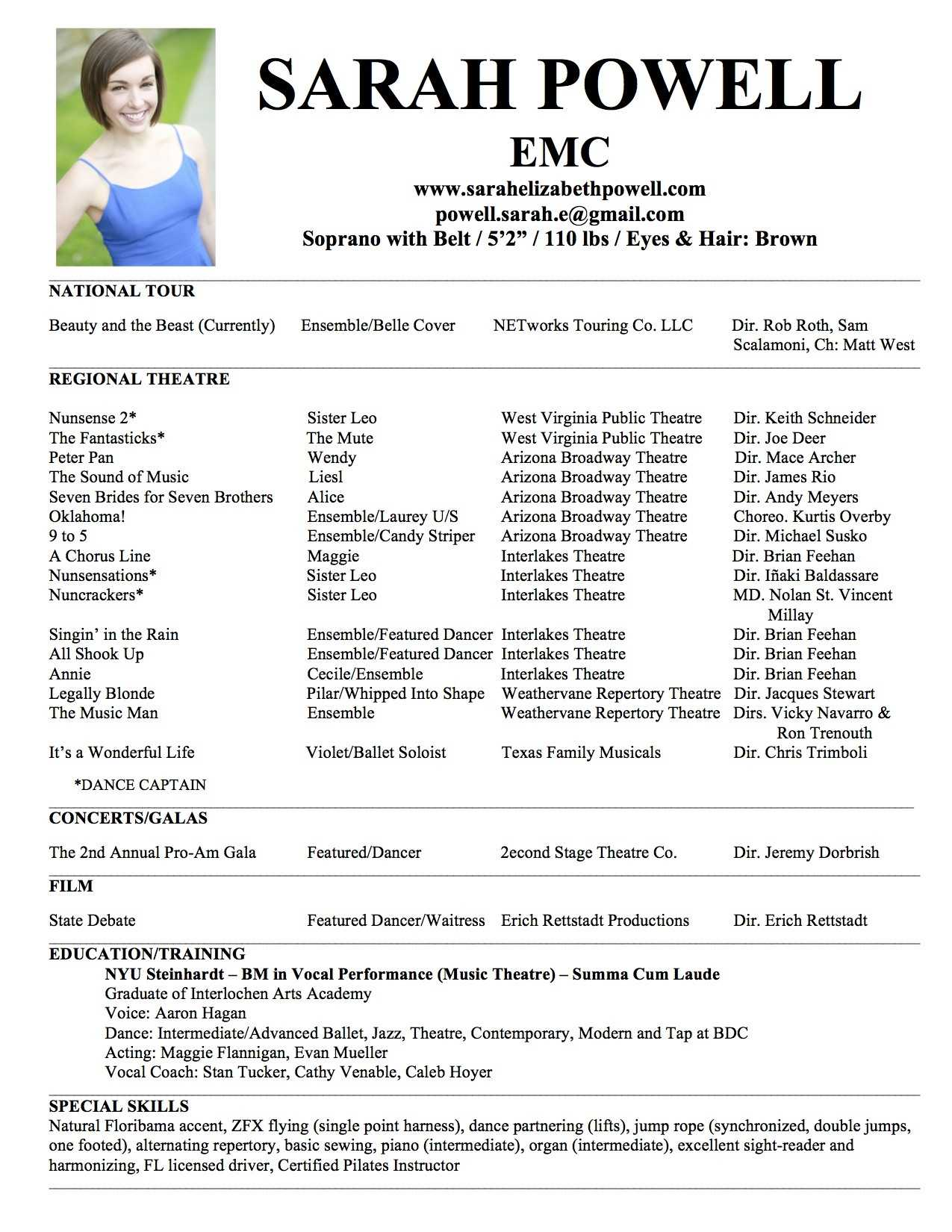 Theatre Resume Format - Mahre.horizonconsulting.co Within Theatrical Resume Template Word