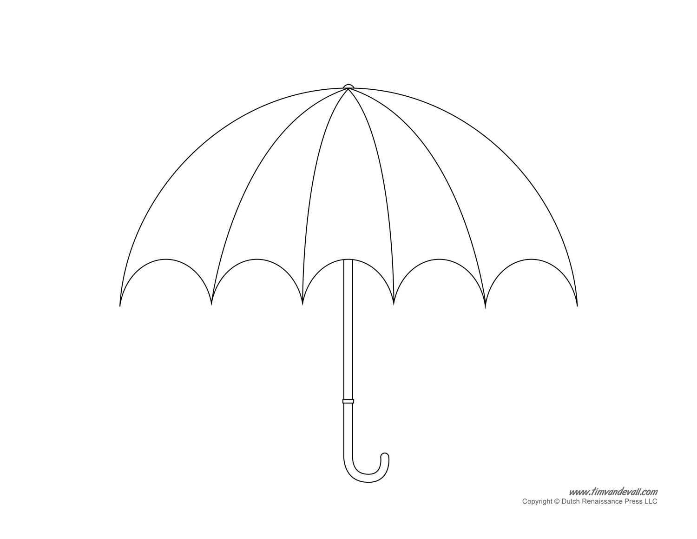 Umbrella Template - Clip Art Library With Regard To Blank Umbrella Template
